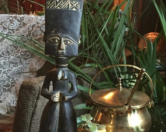 Tribal Figure/wooden sculpture/ handmade