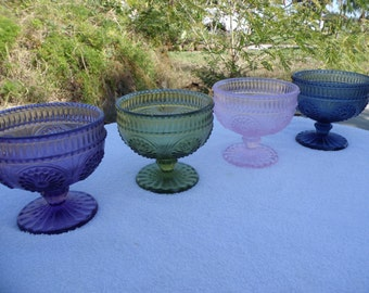 Colored Glass Dessert Dishes