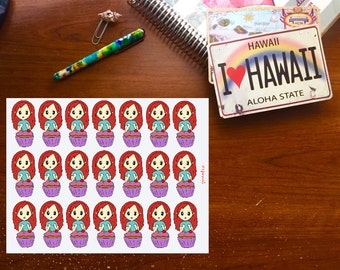 Birthday Chibi Girl, Hand Drawn Planner Stickers, Erin Condren Stickers, Happy Planner Stickers