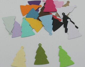 Christmas tree charm: set of die - cut cut-outs