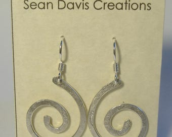 Sterling Silver Spiral Earrings E-26 (lg)
