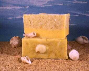 Calendula Soap / Natural Handmade Essential Oil Soap, Lemon Lavender, Yellow Cold Process Soap, Sunshine Soap
