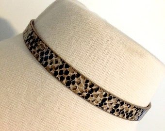 Leather Snakeskin choker
