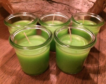 set of 5 - vintage mason jar candle