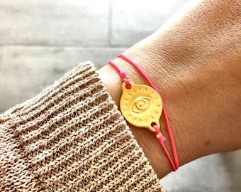 Greek eye bracelet