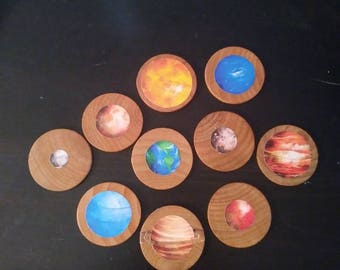 Learning Planets, Planets, Solar System, story Stones, Montesori, Science, Outer Space, Space