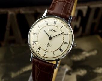 Very Rare Russian vintage watch Sekonda-23jewels, Working, Men's wrist watch