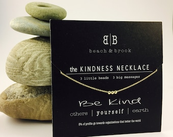 THE KINDNESS NECKLACE, 14k gold-filled or sterling silver, dainty layering simple chain, perfect gift, everday necklace