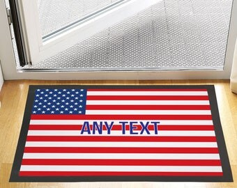 """24 X 16 """" Custom Text USA united states Design Entrance Door Mat Non Slip Advertising Tool For Home Or Business"""