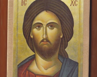 Jesus Christ, Bust. Christian orthodox icon. FREE SHIPPING.