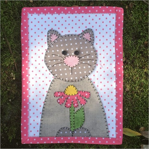 Quilt Kit Daisy Cat Mug Rug Kit By Stitches Of