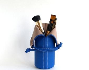 Makeup Storage Royal Blue Makeup Bag Travel Makeup Brush Holder Womens Gift For Her Makeup Brush Roll Cosmetic Bag Makeup Brush Bag Cup