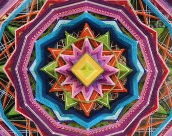 Suvetar Spring Blessing Figurative Yarn Mandala Ojos de Dios 70-95 cm