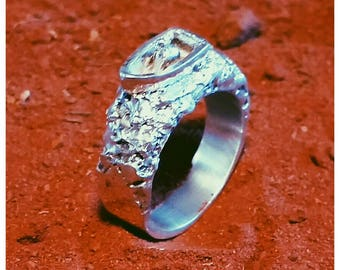 Sterling Silver hand crafted boat ring