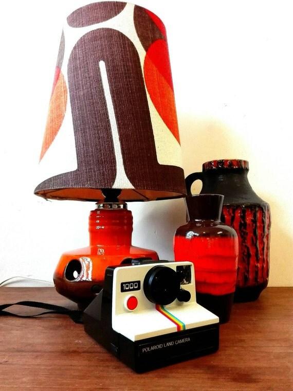 Ceramic seventies lamp (2 lamps) , orange