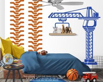 Construction Crane Decorations - Construction Wall Decor - Construction Wall Decals - Construction Party - Construction Nursery Decor