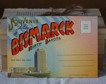 Vintage USA images folder -  Bismarck, North Dakota - Souvenir folder of Bismarck, North Dakota - Vintage 1950s
