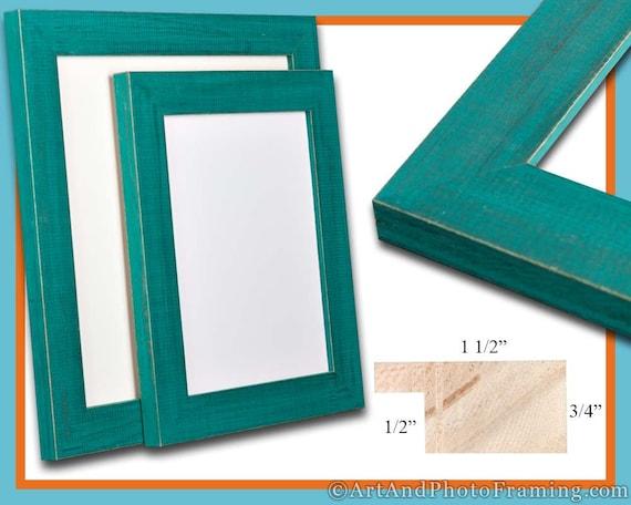 Rustic Teal Picture Frame Aqua Green Decor Reclaimed