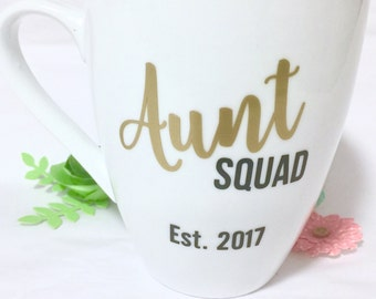 Personalized Aunt Squad Coffee Mug, Aunt Squad, Aunt to be gift, Aunt Gift, Gift for Aunt, Future Aunt Gift, Aunt Squad, Aunt Squad Mugs