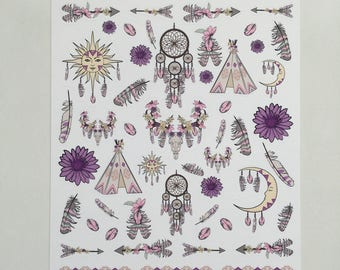 Boho Tribe Decorative Stickers