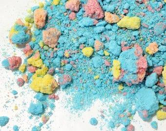 Mothership Bath Bubble Crumble. Fizzy Bubbling Salt Soak. Bubble Bomb Fizz in a Bag. Bath and Beauty. Rainbow Bubble Crush.  At Home Spa.