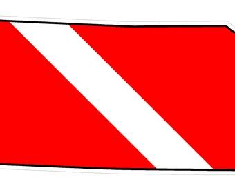 Kansas State (Y17) Diver Down Flag Vinyl Decal Sticker Car Laptop/Netbook