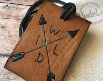compass luggage tag, travel tag, custom luggage tag, luggage tags, rustic luggage tag,
