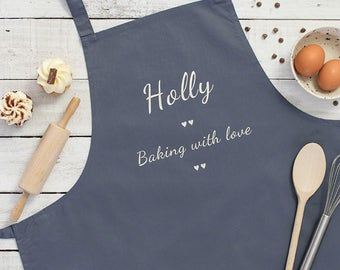 Personalised Apron - Apron - Baking Gifts - Birthday Gift Idea - Mothers Day - Baking Supply - Customize Apron - Personalized Apron