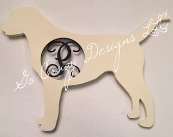 Custom Wooden Labrador Retriever Dog, Door hanger, Lab