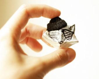 Brooch // Cool pin Serious raccoon, Animal brooch, Animal pin, Christmas SALE, Cool brooch, Paper mache jewelry, Papier mache