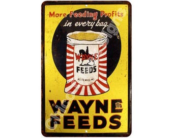 Wayne Feeds Vintage Look Reproduction 8x12 Metal Sign 8121183