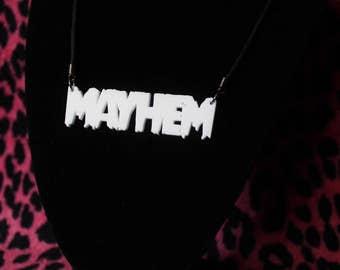 Acrylic mayhem necklace