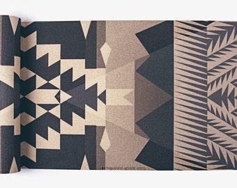 Pueblo Yoga Mat-printed yoga mat-yoga mat-custom yoga mat-bohemian-boho-rug-navajo-aztec-tribal-yoga