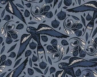 Sailor Ink - Blue - S.S. BLUEBIRD - Cotton + Steel Fabrics - Collaborative - 5096-01