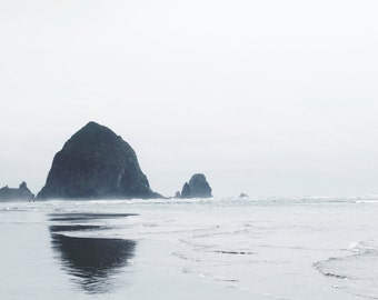 Cannon Beach, Oregon | Pacific Ocean | Ocean Art Photography | Minimal Wall Decor | Coastal Print