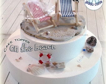 Table markers spouses/cake topper ON THE BEACH