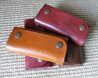 SCKLeather Handmade Veg Tan Leather Key Case
