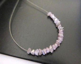 ON SALE 50% 1.00CTW Tiny 2mm To 3mm Pink Raw Rough Uncut Diamonds, Natural Pink Uncut Diamond Beads Loose, Dds402/13