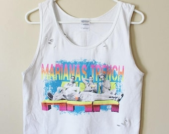 Shredded/ Distressed Mariana's Trench Tank Top/ Muscle Tee Small