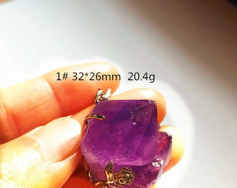 Gemshow Beautiful Amethyst Cluster Pendant