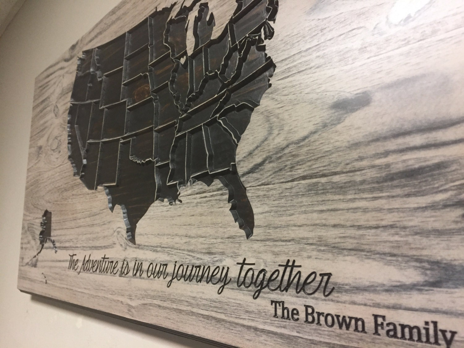 Travel Wall Decor Adventure Map Wooden US Map Wood Wall - Wood us map