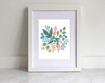Home Printable | Leaves & Berries