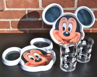 Two Mickey Mouse Lunch/Dinner Place Settings