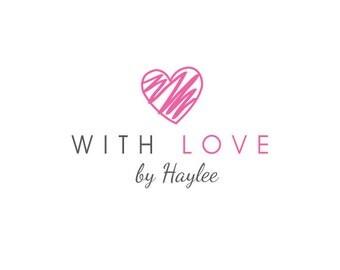 Custom Heart Logo Design.  Pre-made Logo Design.  Feminine Logo.  Photography Logo, Valentine Logo, Sketch.  Customized for ANY business.