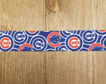 Chicago Cubs 7/8 Inch Grosgrain Ribbon