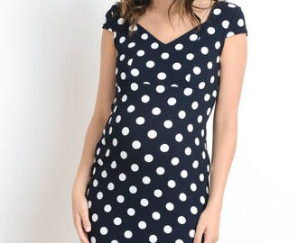 Hello Miz Polka Dot Print Maternity Dress