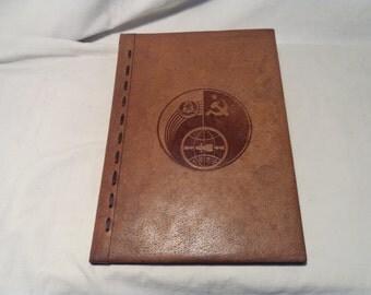 Vintage 1980's Handmade Brown Leather Portfolio - NEW