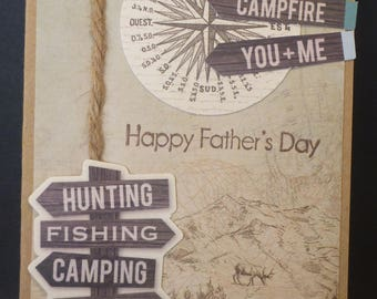 Camping Father's Day Card 2647