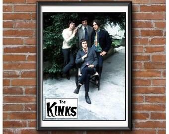 The Kinks Poster – 1960's British Invasion Rock Band