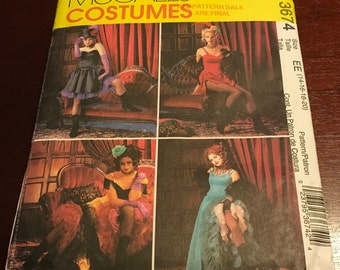 McCall's 3674 Sewing Pattern Can Can Dancers Saloon  Western Show Girl Las Vegas Moulin   Costume Party Cosplay Halloween Size 14 16 18 20